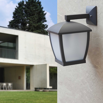 Contemporary outdoor in dark gray and Eco 42W bulb